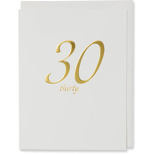 Thirty Birthday Card