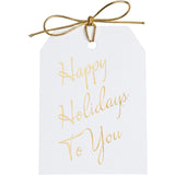 Happy Holidays To You Gold Tags