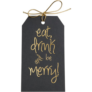 Eat Drink and Be Merry Gold Tags