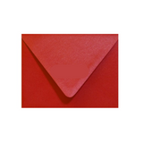 Red Metallic envelope with a contour flap