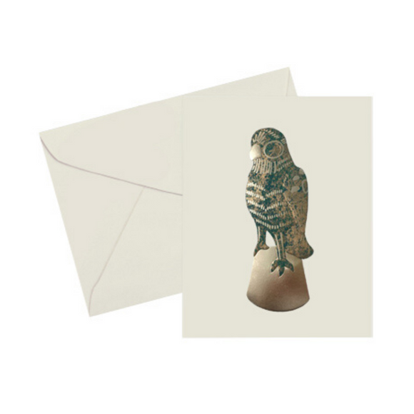 Multicolored gold and green foil embossed cards Parrot Note Card