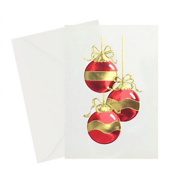 Ornament Red & Gold Card Card