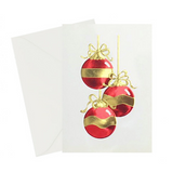 Ornament Red & Gold Foil Embossed Card
