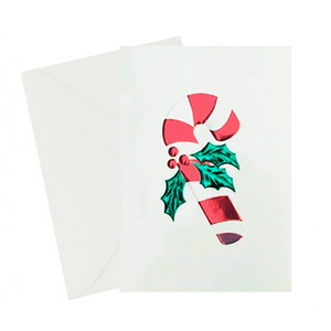 Foil Candy Cane Holiday Card