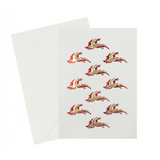Reindeer Red & Gold Card