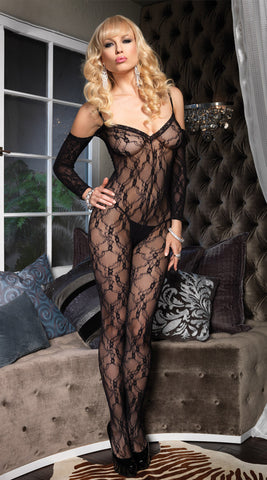 Leg Avenue Cold Shoulder Lace Bodystocking