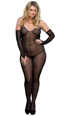 Leg Avenue Plus Size Daisy Bodystocking