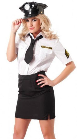 Rimba Skirt & Blouse Police Uniform Set