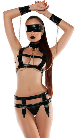 Starline Cage Bra Top & Thong Bondage Set