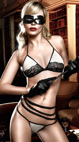 Baci Black and Nude Soft Cup Bra & Thong
