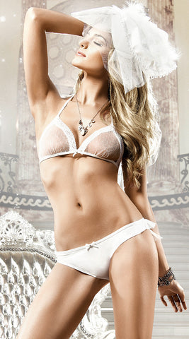 Baci Soft Cup Bra and Ruffled Bikini Panty