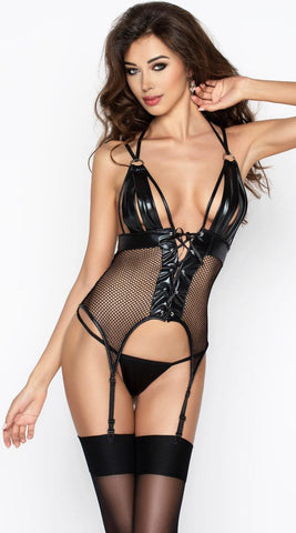 Passion Katriss Corset with Suspender & G-String