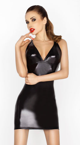 Passion Hellen Wet-Look Dress & G-String