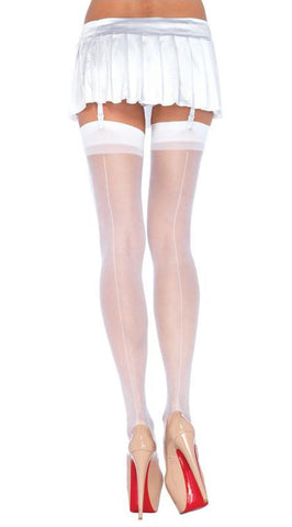 Leg Avenue Sheer Stockings - White