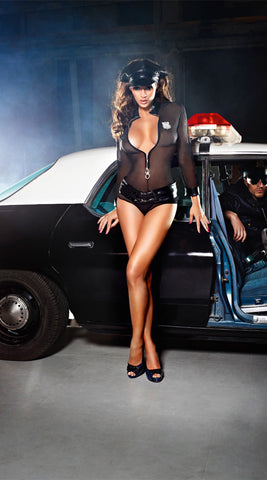 Baci Sheer Sexy Cop Costume Set