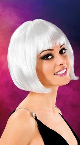 Cabaret Synthetic Fiber Bob Wig White