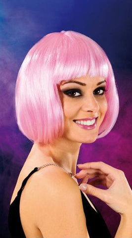 Cabaret Synthetic Fiber Bob Wig Light Pink