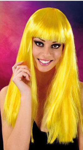 Cabaret Long Synthetic Fiber Wig Yellow