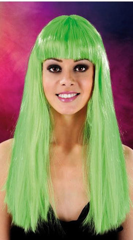 Cabaret Long Synthetic Fiber Wig Green
