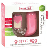 Shots Toys 10 Speed Remote Vibrating G-Spot Egg