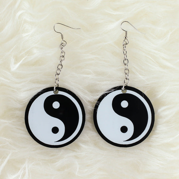 Yin Yang Acrylic Earrings - Witch - Goth - Nu Goth - Witch Worldwide