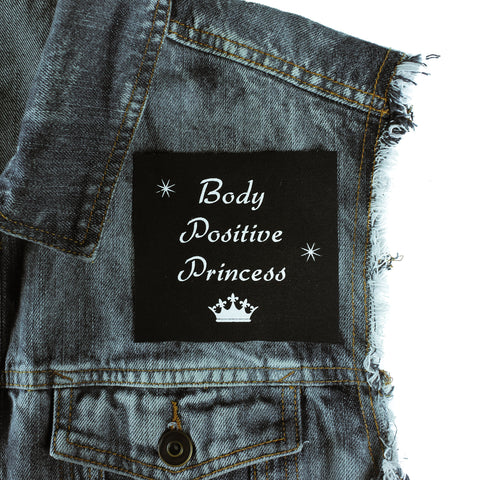 Body Positive Princess Canvas Patch - Witch - Goth - Nu Goth - Witch Worldwide