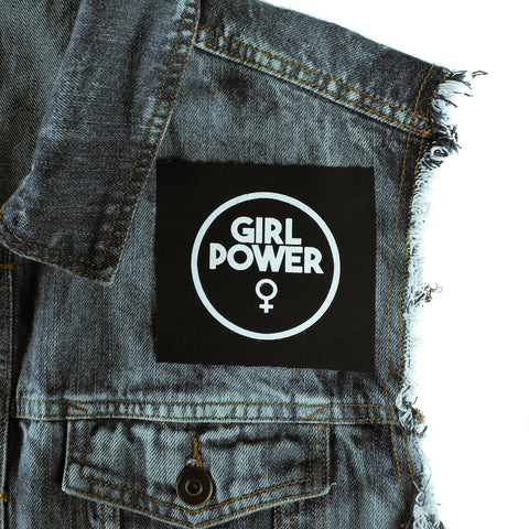 Girl Power Canvas Patch - Witch - Goth - Nu Goth - Witch Worldwide