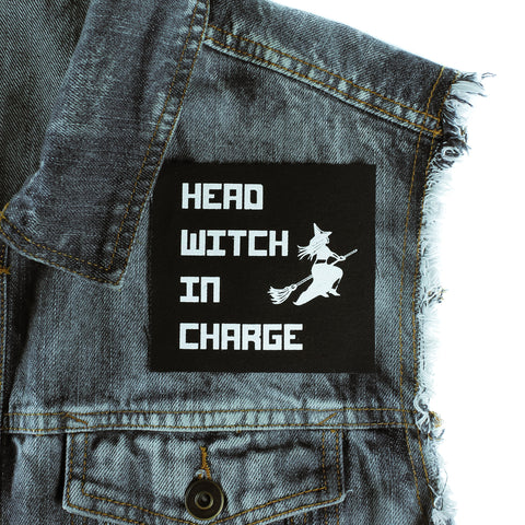 Head Witch In Charge Canvas Patch - Witch - Goth - Nu Goth - Witch Worldwide