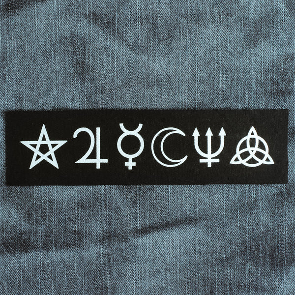 Witch Symbols Wide Canvas Patch - Witch - Goth - Nu Goth - Witch Worldwide