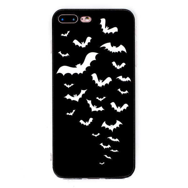 Bats iPhone Case 6 6s 6+ 7+ 7s 8s 8+ Batwing Halloween Haunted Spider Ghost Spooky Dark Goth Gothic Phone Case