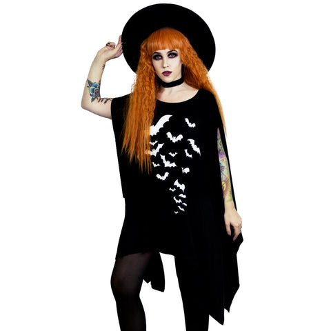 Bats Oversized Tunic Top