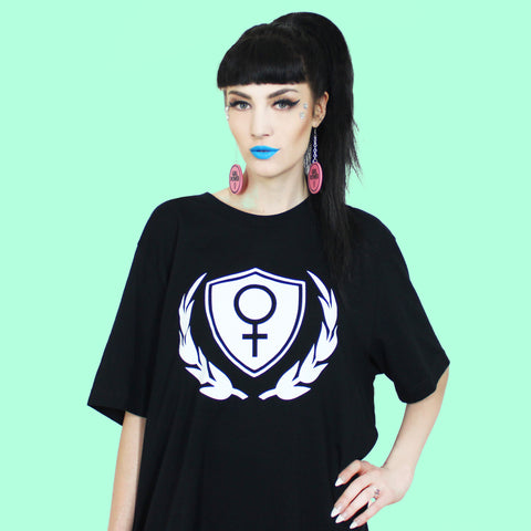 Venus Shield Tee Shirt - Witch - Goth - Nu Goth - Witch Worldwide