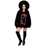 Coffin Roses Oversized Sweatshirt