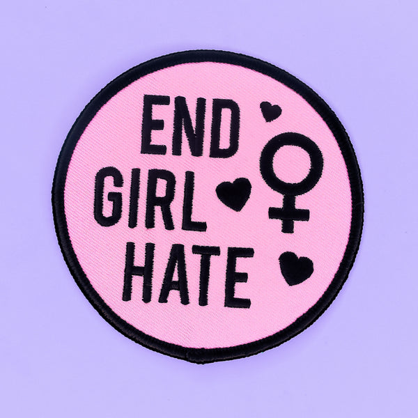 End Girl Hate Big Iron-On Patch - Witch - Goth - Nu Goth - Witch Worldwide
