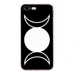 Full Moon iPhone Case 6 6s 6+ 7+ 7s 8s 8+ SE Witch Triple Moon Cycle Goth Magic Phone Case