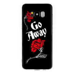 Go Away Samsung Galaxy Case S7 S7 Edge S8 S8+ Goth Roses Coffin Sassy Gothic