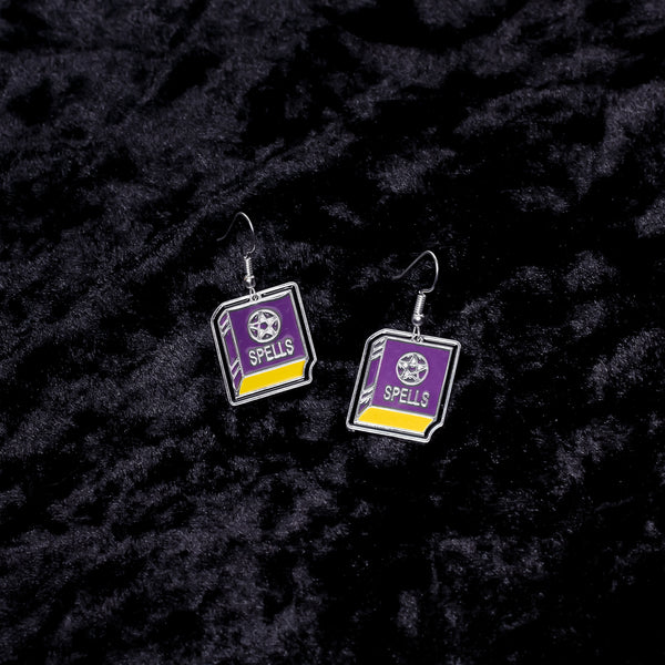 Spell Book Charm Earrings - Witch - Goth - Nu Goth - Witch Worldwide