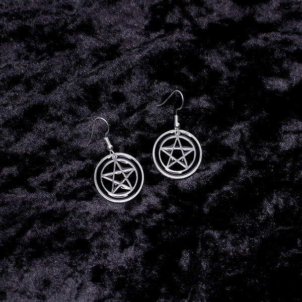 Pentacle Charm Earrings - Witch - Goth - Nu Goth - Witch Worldwide