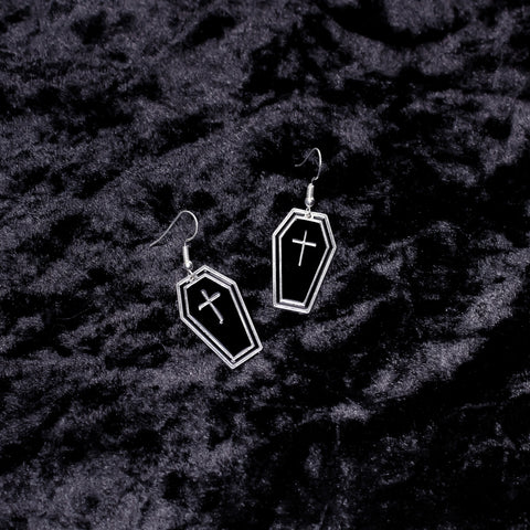 Coffin Charm Earrings - Witch - Goth - Nu Goth - Witch Worldwide