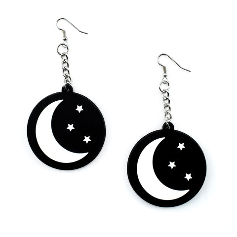 Moon & Stars 3D Silicone Earrings