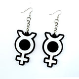 Mercury 3D Silicone Earrings