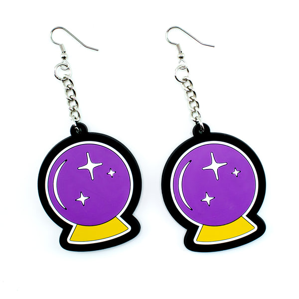Crystal Ball 3D Silicone Earrings