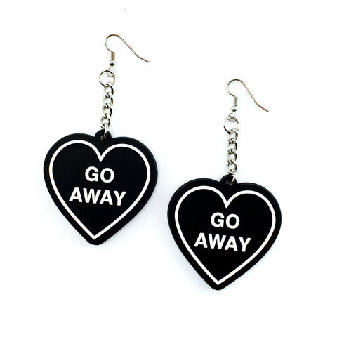 Go Away Heart 3D Silicone Earrings