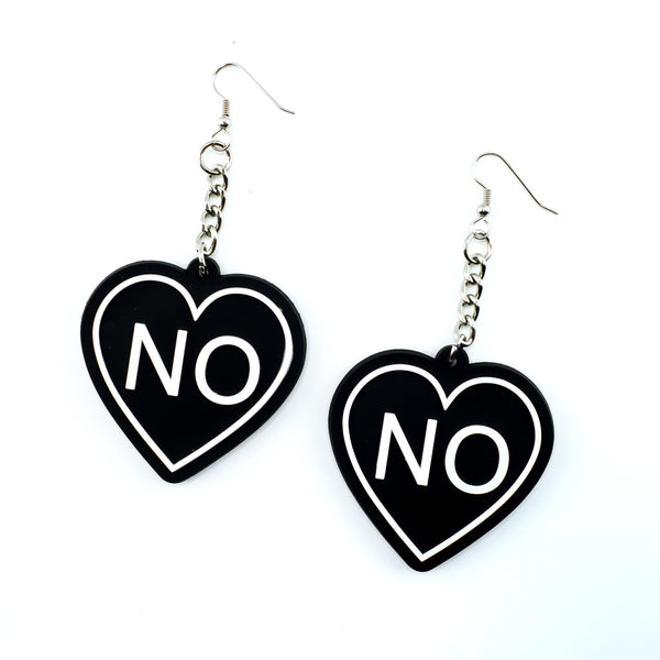 No Heart 3D Silicone Earrings