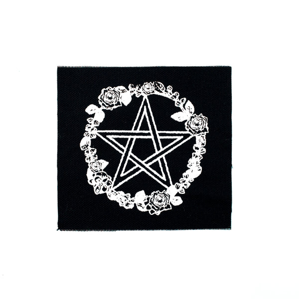 Rose and Pentacle Canvas Patch