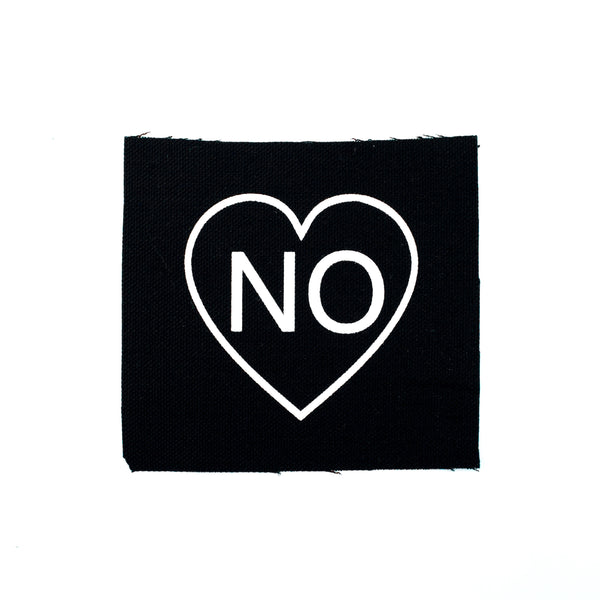 No Heart Canvas Patch