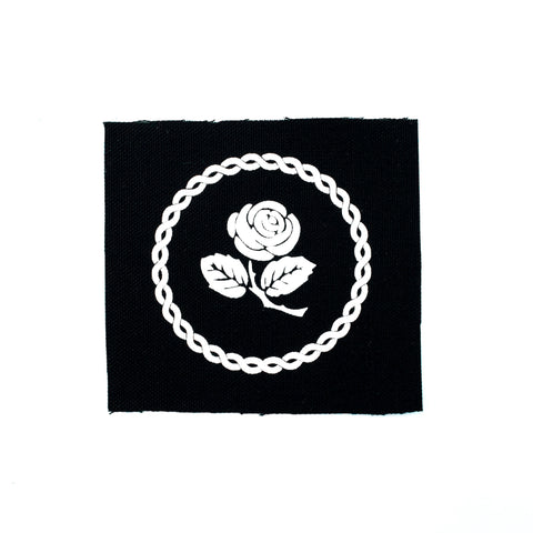 Rose and Chain Canvas Patch