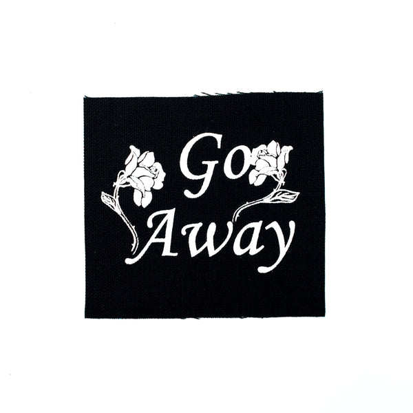 Go Away Roses Canvas Patch