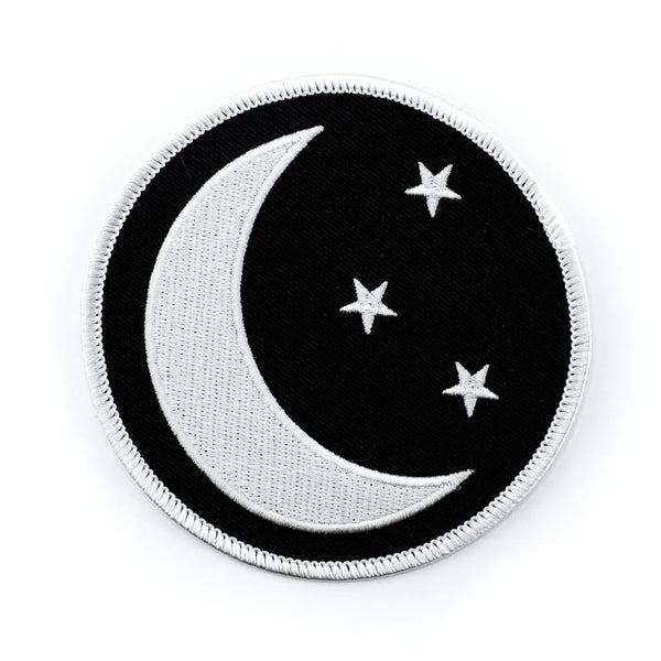 Moon & Stars Big Iron-On Patch