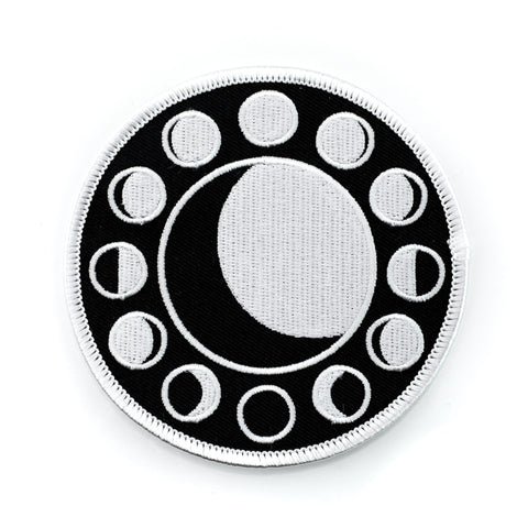 Lunar Cycle Big Iron-On Patch